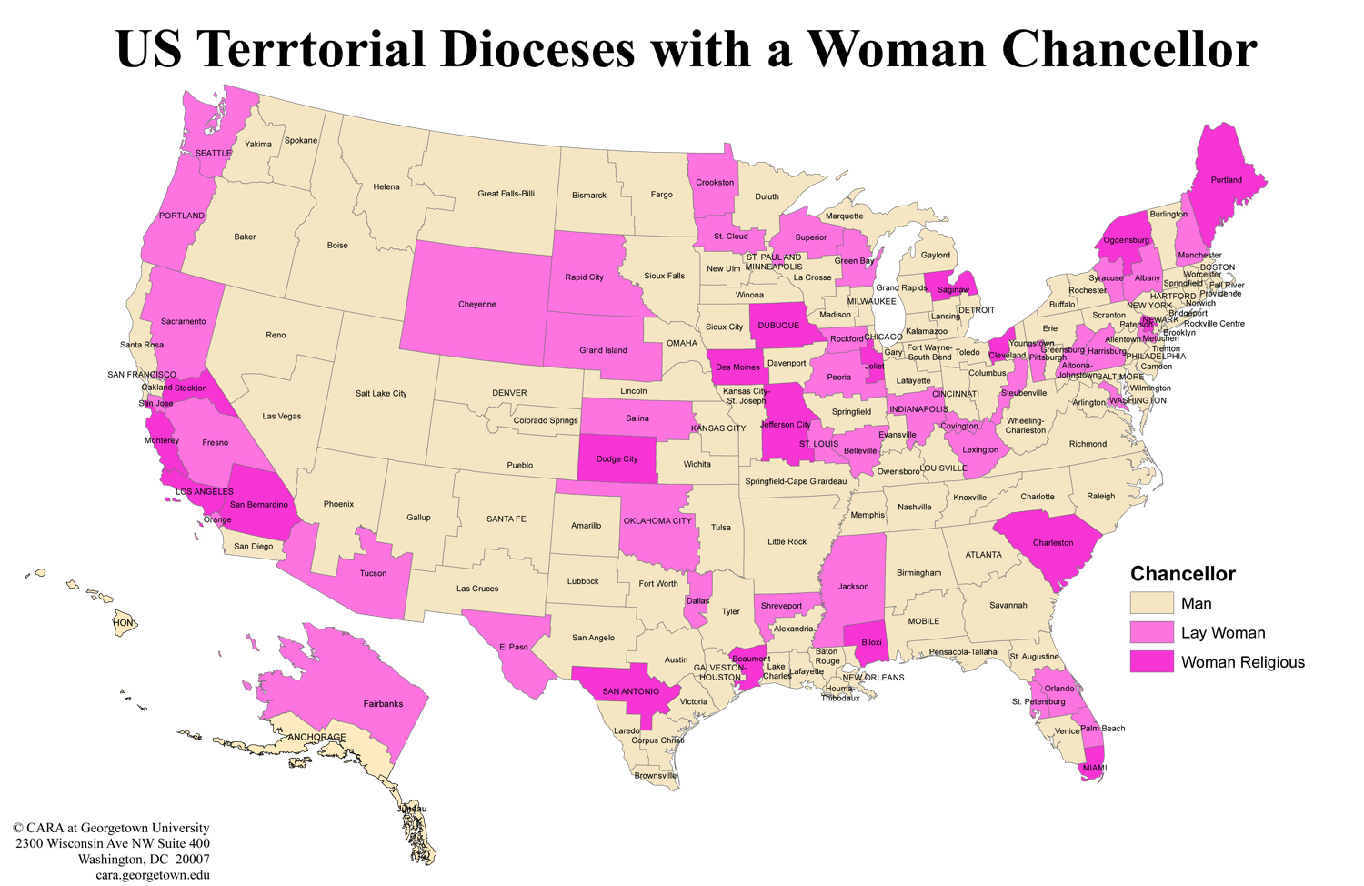 FEMALE chancellors already exist in many US dioceses  Crisis